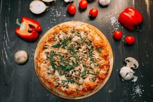 Пицца Грибная вегетарианская